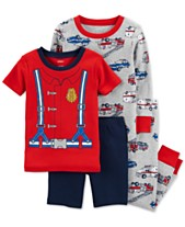 Carter s Baby Boys 4-Pc. Firefighter Cotton Pajama Set b3a58f1933