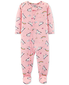 Carter's Baby Girls Unicorn-Print Footed Pajamas