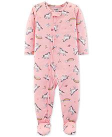 Carter's Baby Girls Unicorn-Print Footed Pajamas