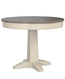 "Custom Dining 44"" Round Counter Height Pedestal Table"