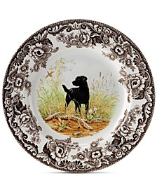 Woodland Black Lab Salad Plate