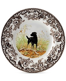 Spode Woodland Black Lab Salad Plate