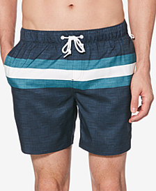 "Original Penguin Men's Colorblocked 6"" Volley Swim Trunks"