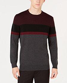 Alfani Men's Ottoman Striped Sweater, Created for Macy's