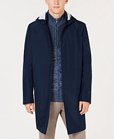 Alfani Men's Bonded Hooded Top Coat, Created for Macy's