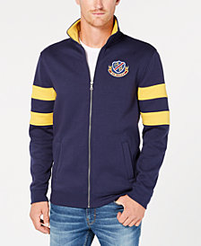 Club Room Men's Embroidered Fleece Varsity Jacket, Created for Macy's