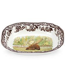 Spode Woodland Moose Open Vegetable Dish