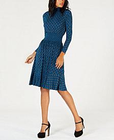 MICHAEL Michael Kors Printed Smocked-Waist Dress