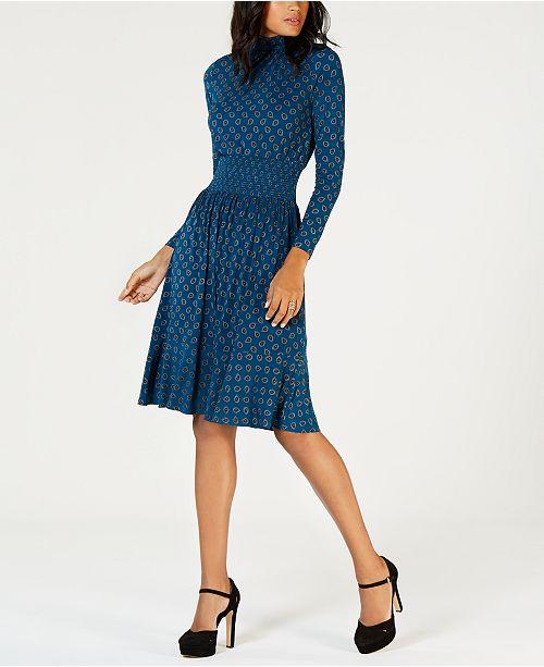 1f80a1ee995 Michael Kors Printed Smocked-Waist Dress   Reviews - Dresses ...