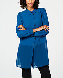 Alfani Sheer-Hem Tunic, Created for Macy's