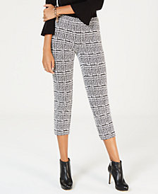MICHAEL Michael Kors Plaid Cigarette Crop Pants, In Regular & Petites