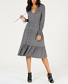 MICHAEL Michael Kors Tweed-Print Dress