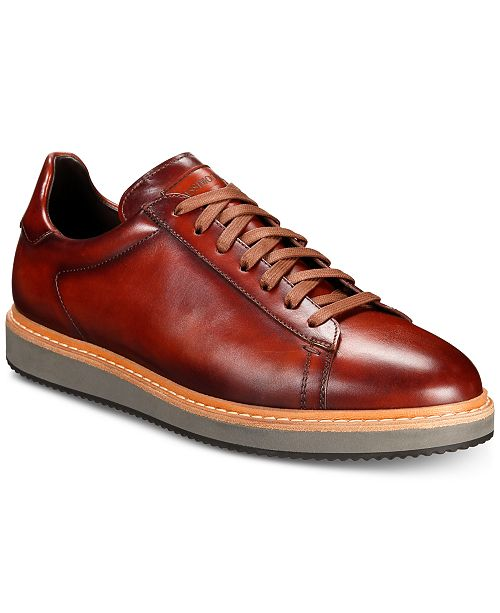 Massimo Emporio Men's Wedge Leather Lace-Ups, Created For Macy's