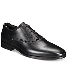 Roberto Cavalli Men's Plain-Toe Studded Oxfords