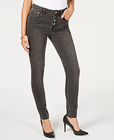 MICHAEL Michael Kors Button-Up Skinny Jeans