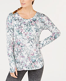 Ideology Floral-Print Drop-Shoulder Top, Created for Macy's