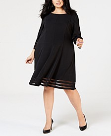 Plus Size Fit & Flare Dress