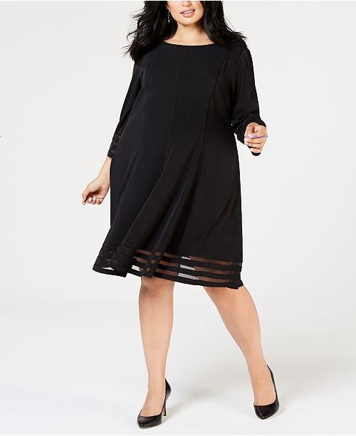 Jessica Howard Plus Size Fit & Flare Dress & Reviews - Macy\'s