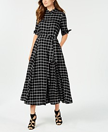 Plaid Maxi Shirtdress