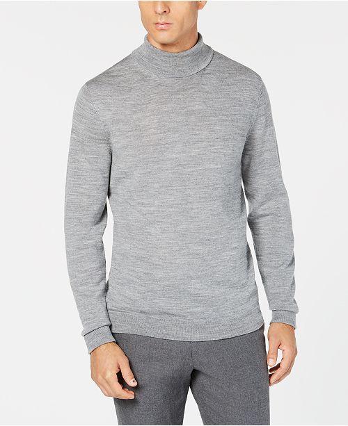 73be5b87e Tasso Elba Men s Merino Wool Turtleneck Sweater