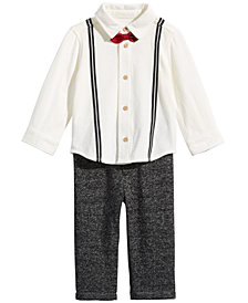 First Impressions Baby Boys 2-Pc. Suspender & Bowtie Shirt and Pants Set, Created for Macy's