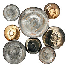 METAL DISC WALL DECO