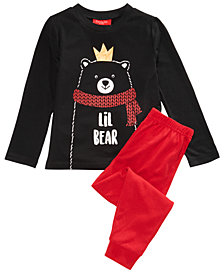 Matching Family Pajamas Lil Bear Pajama Set, Available In Toddler and Kids, Created For Macy's