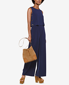 MICHAEL Michael Kors Lace-Up Popover Jumpsuit