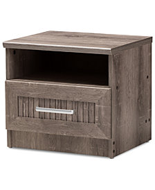 Gallia 1-Drawer Nightstand, Quick Ship