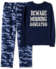 Carter's Big Boys Cotton Top and Fleece Pants Pajama Set