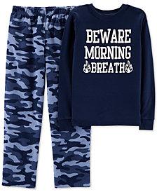 Carter's Big Boys Cotton Top and Fleece Pants Pajama Set