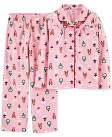 Carter's Little & Big Girls 2-Pc. Santa Pajama Set
