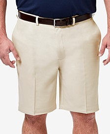 "Men's Big & Tall Cool 18 PRO Classic-Fit Stretch Flat-Front 9.5"" Shorts"