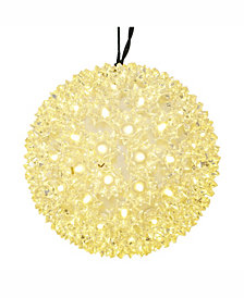 """Vickerman 7.5"""" Starlight Sphere Christmas Ornament with 100 Warm White Wide Angle LED Lights"""