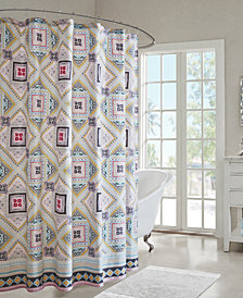 "Echo Design Ibiza 72"" x 72"" Cotton Printed Shower Curtain"