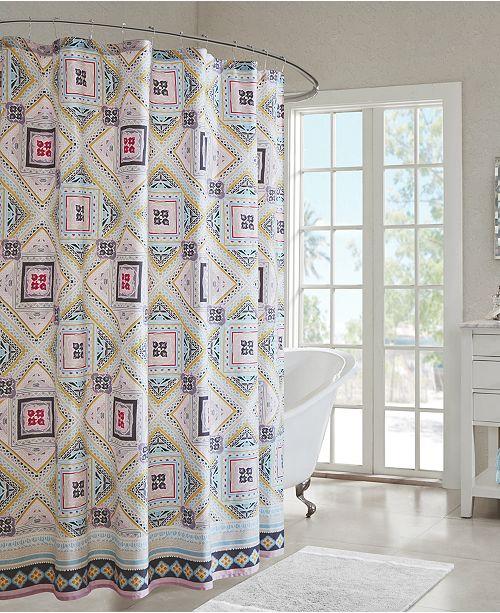 Design Ibiza 72 X Cotton Printed Shower Curtain