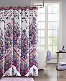 "Intelligent Design Tulay 72"" x 72"" Printed Shower Curtain"