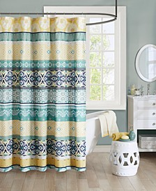 "Arissa 72"" x 72"" 100% Microfiber Printed Shower Curtain"