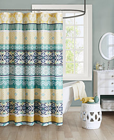 "Intelligent Design Arissa 72"" x 72"" 100% Microfiber Printed Shower Curtain"