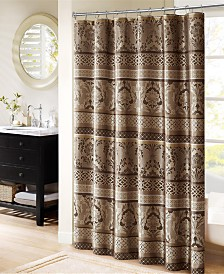 "Madison Park Bellagio 72"" x 72"" Jacquard Shower Curtain"