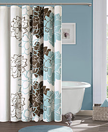 """Madison Park Lola 72"""" x 72"""" 100% Cotton Floral Printed Shower Curtain"""