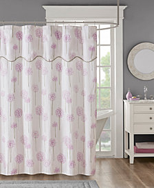 "Madison Park Blossom 72"" x 72"" Cotton Sateen Shower Curtain"