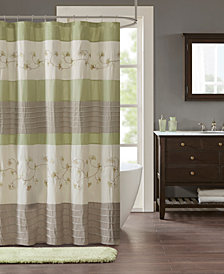 """Madison Park Sarah 72"""" x 72"""" Embroidered Shower Curtain"""