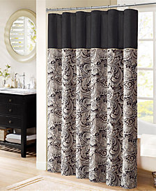 "Madison Park Aubrey 72"" x 72"" Polyester Jacquard Shower Curtain"