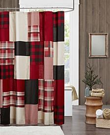 """Woolrich Sunset 72"""" x 72"""" 100% Cotton Shower Curtain"""