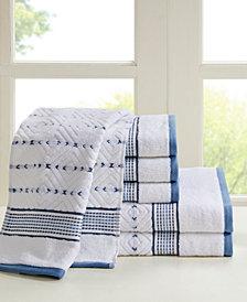 Madison Park Mikka 6-Pc Yarn Dyed Towel Set