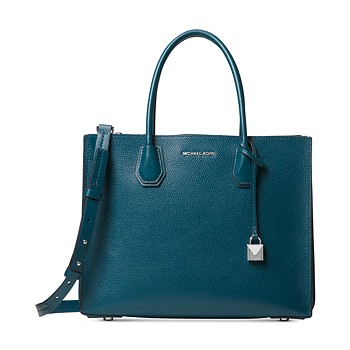 Michael Kors Women's Totebags Luxe Teal Mercer Leather Tote