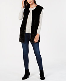 I.N.C. Soft Faux-Fur Vest, Created for Macy's