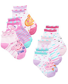 Peppa Pig Toddler Girls 6-Pk. No-Show Socks