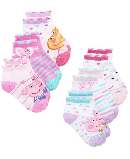 Planet Sox Peppa Pig Toddler Girls 6-Pk. No-Show Socks